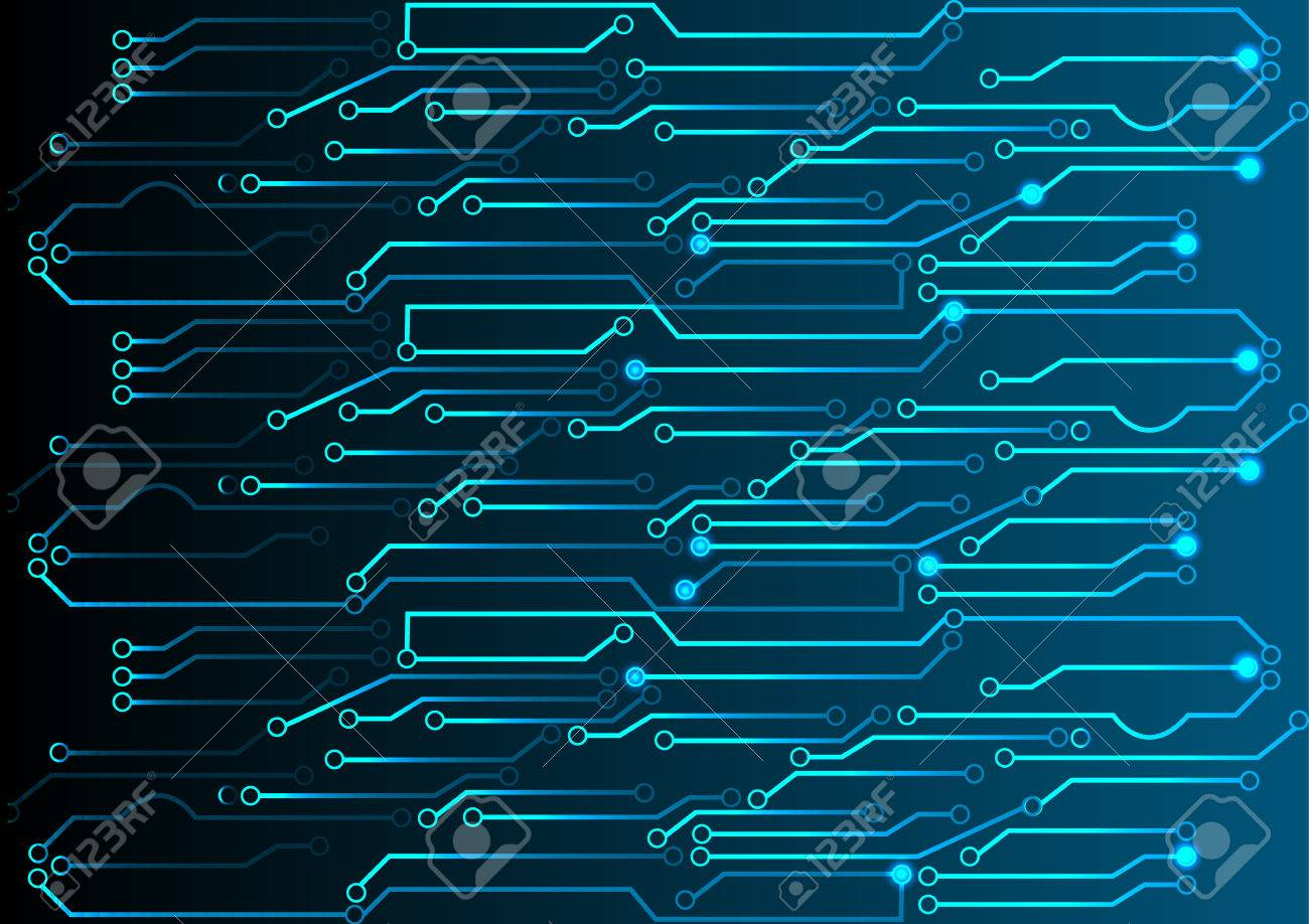 Abstract Blue Light Circuit Background Stock Photo, Picture And ...