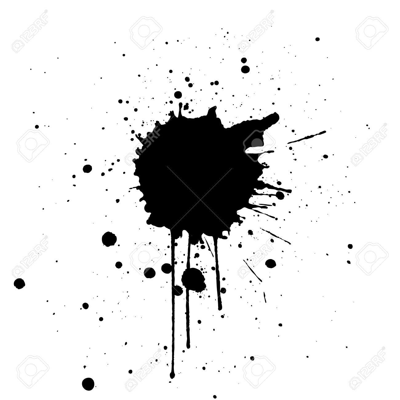 black ink splatter background illustration vector design royalty rh 123rf com ink splatter vector png ink splatter vector eps free download
