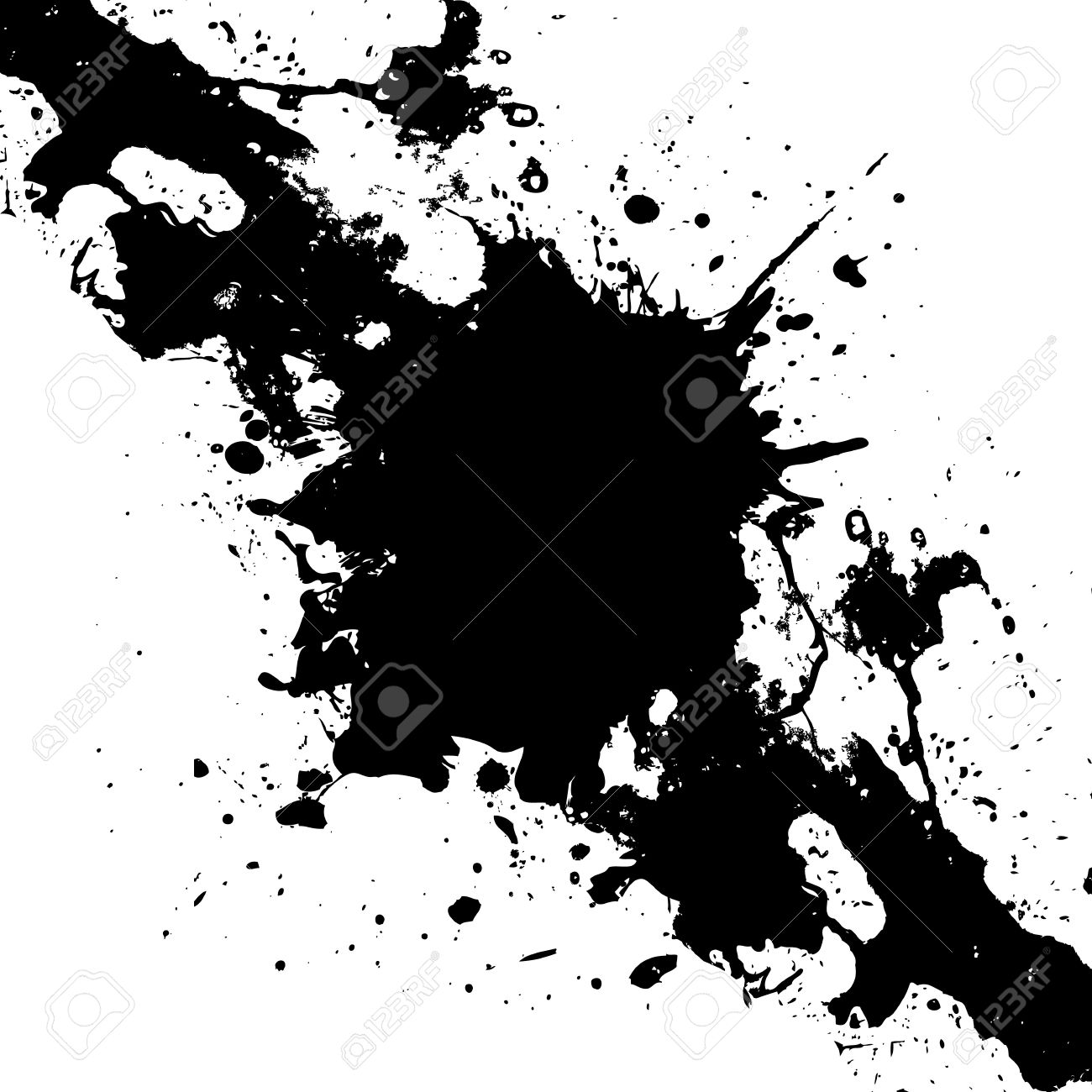 vector ink black paint splatter background illustration vector