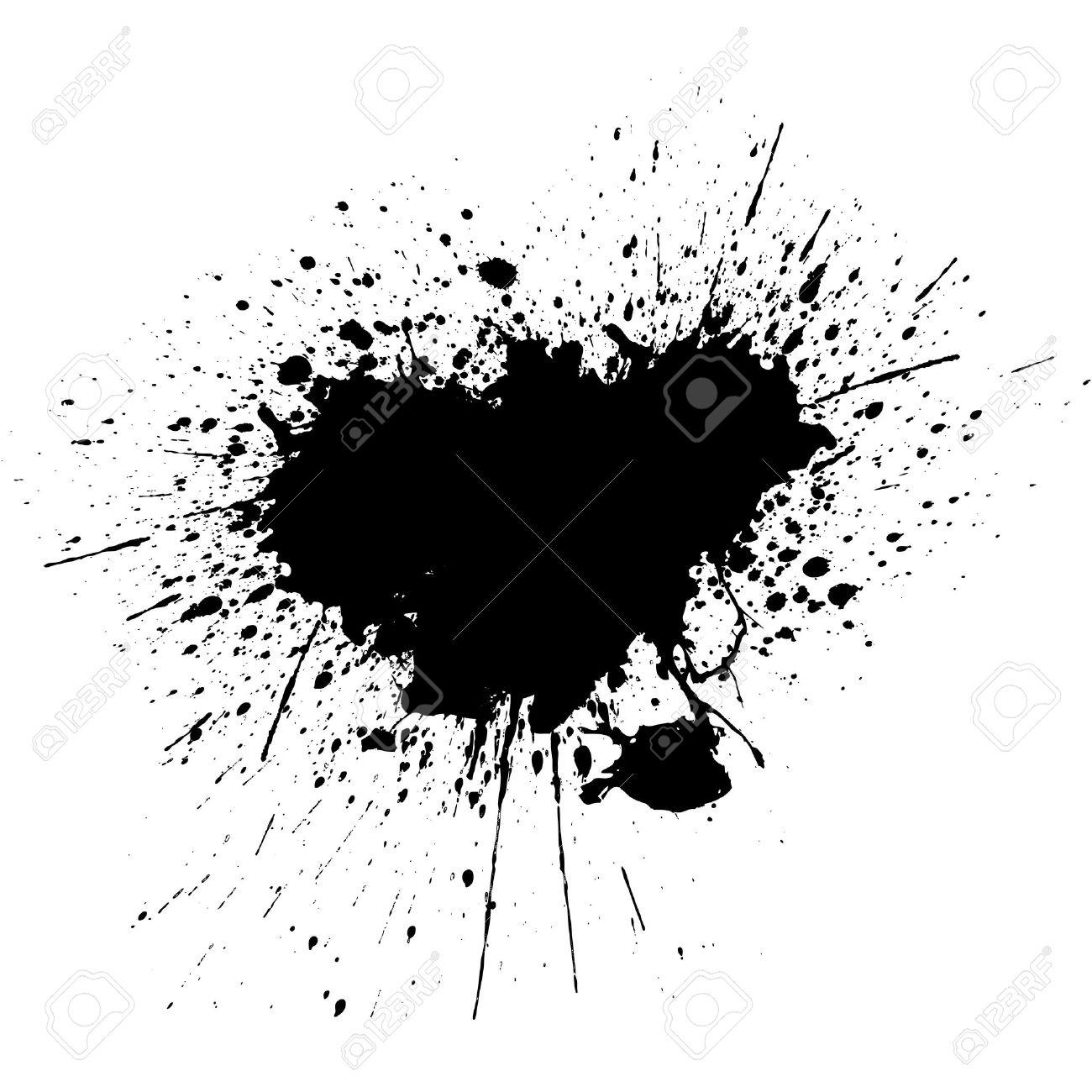 black ink splatter background illustration vector design royalty rh 123rf com ink splatter vector png ink splatter vector png