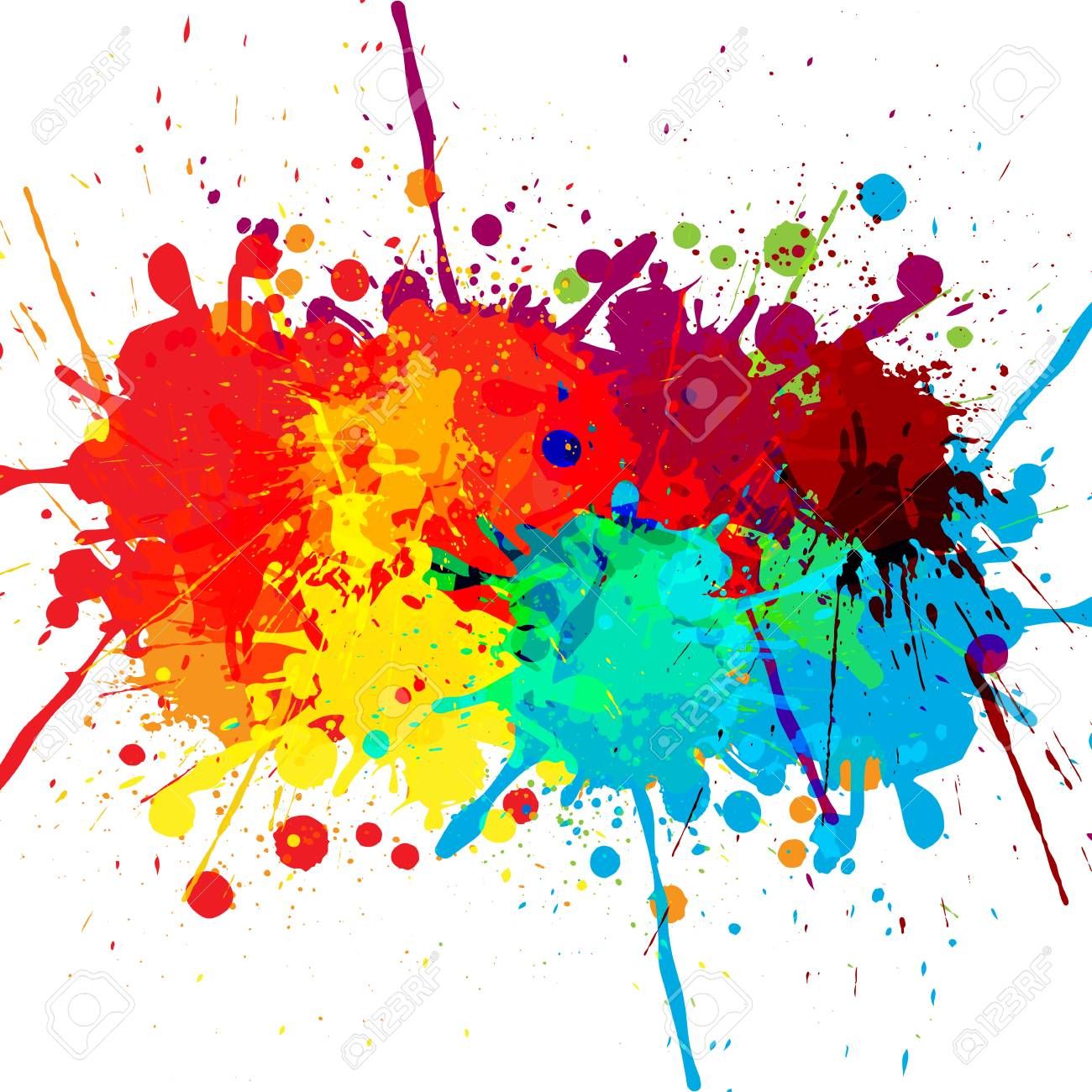 abstract splatter color design background illustration vector