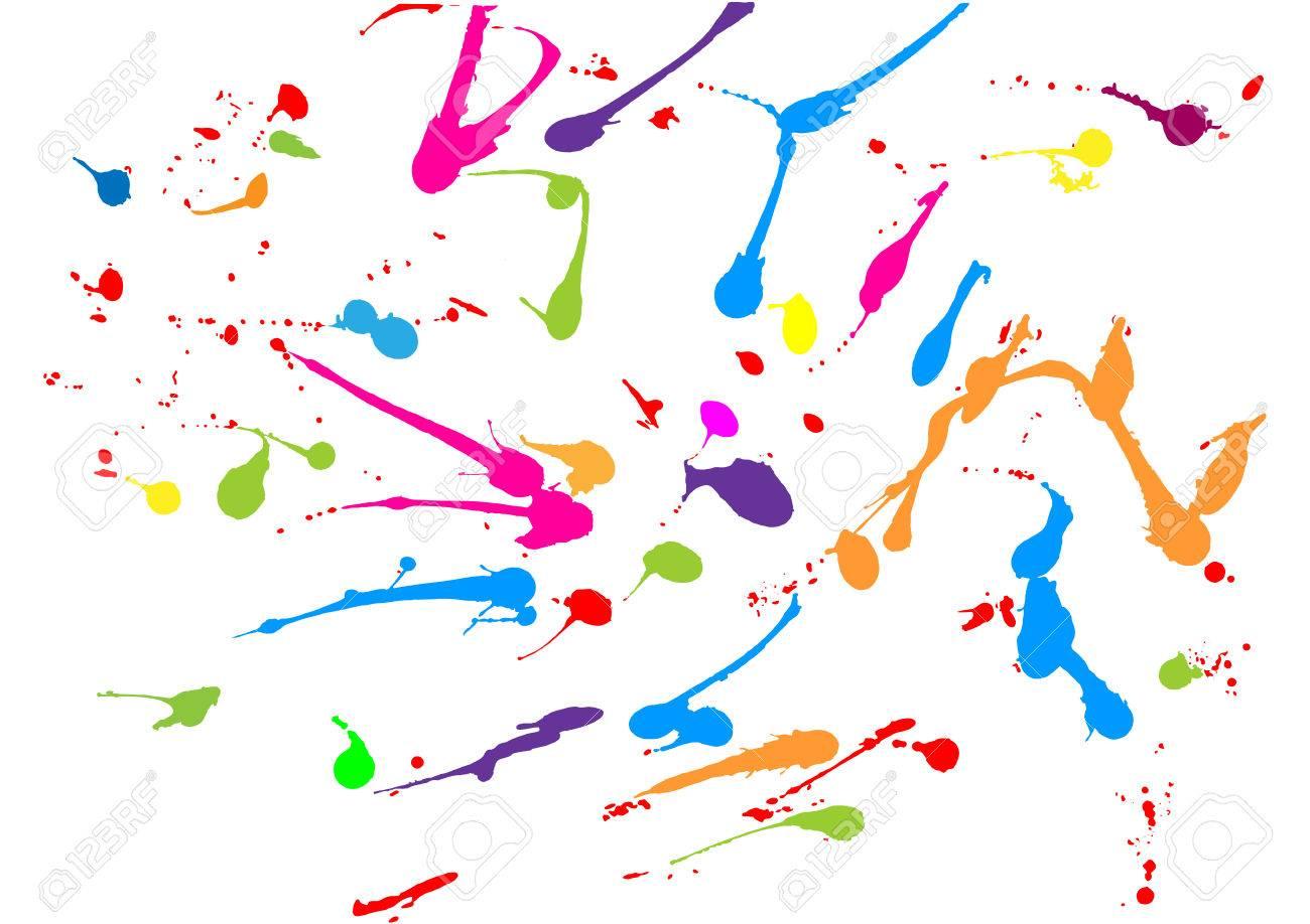 abstract splatter paint color design background illustration