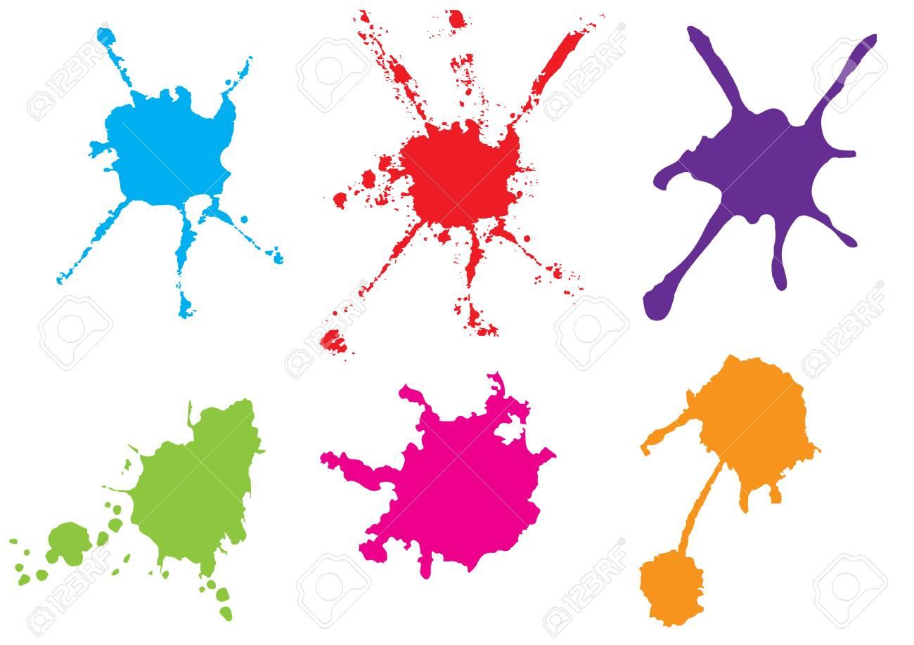 vector color paint splatter paint splatter set vector illustration rh 123rf com vector paint splatter free download vector paint splatter free