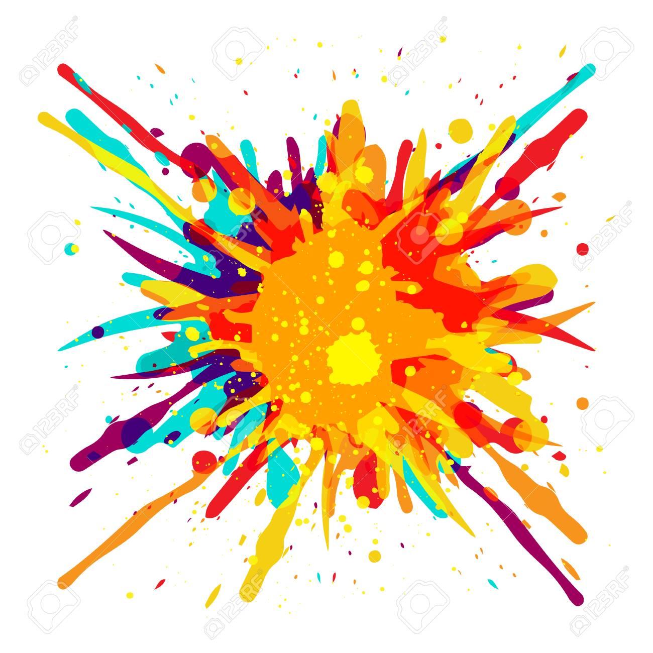 Paint Color Splash Background Design Illustration Royalty Free