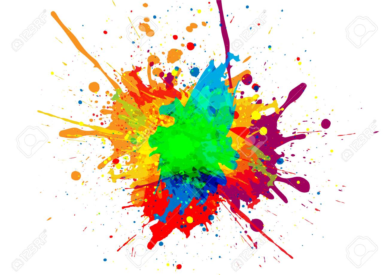 abstract vector paint color design background illustration vector