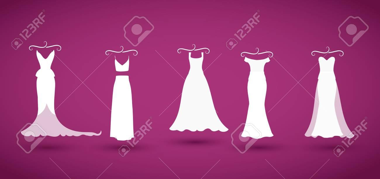 deaa924cdacfa ウェディング ドレス コレクション ベクトル 写真素材 - 80934427
