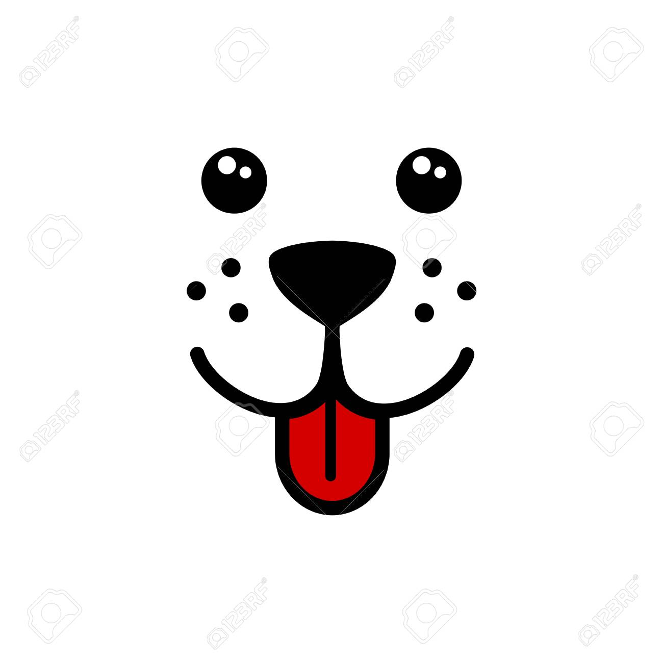 Cute Simple Dog Face Vector Royalty Free Cliparts Vectors And Stock Illustration Image 107876020