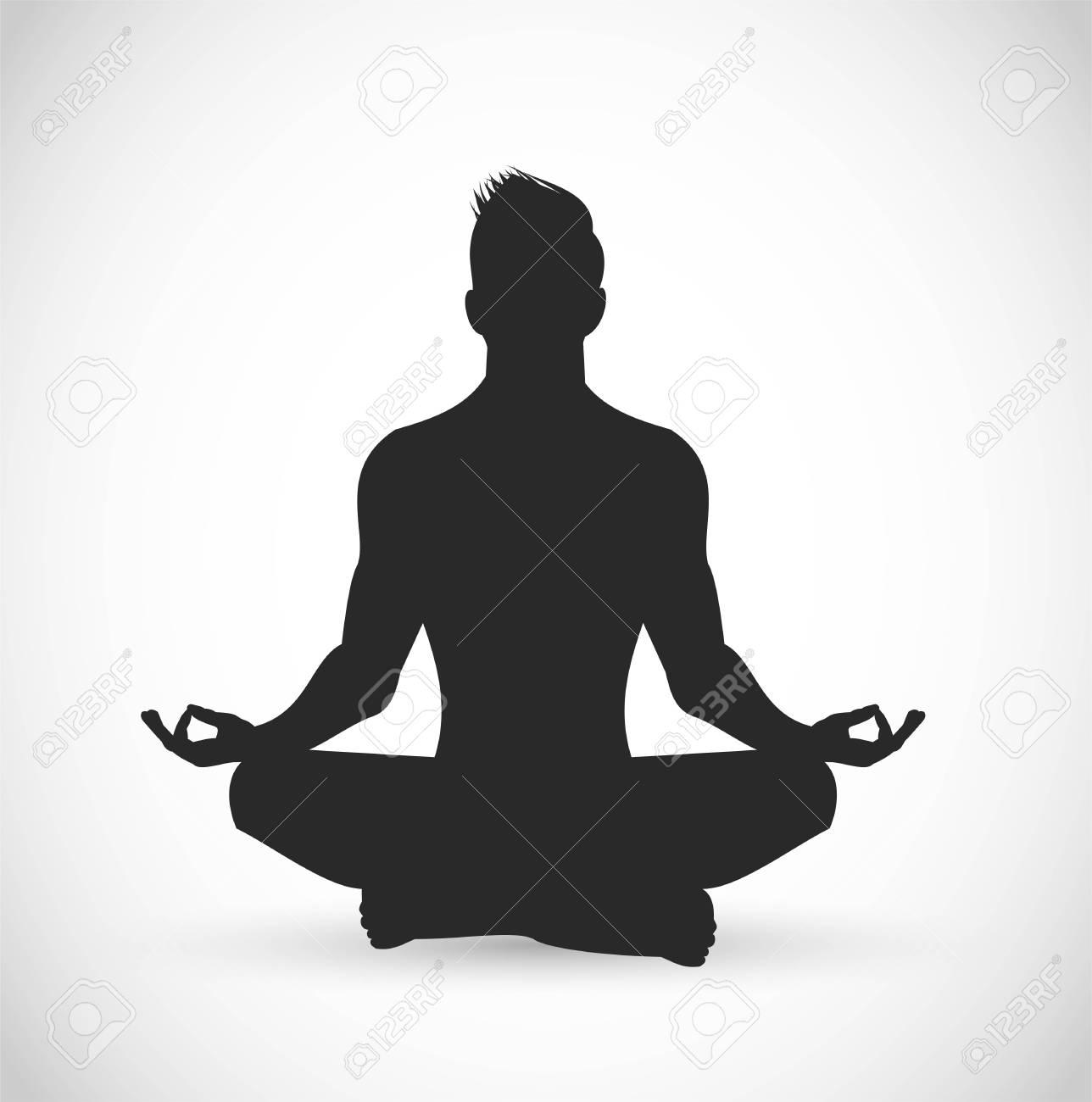Man meditating vector illustration - 109176629