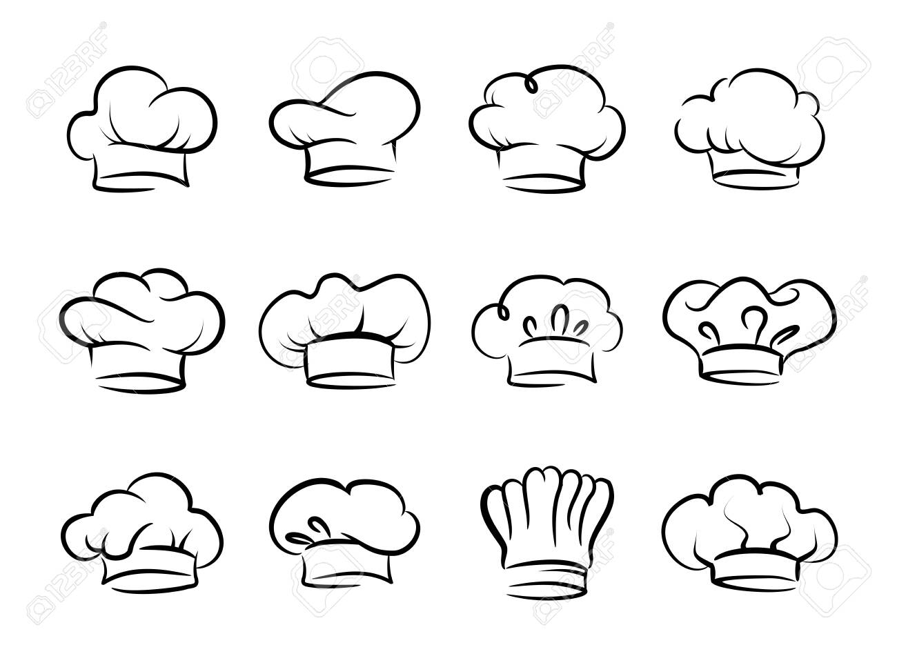 Chefs hat vector set, collection - 139552386