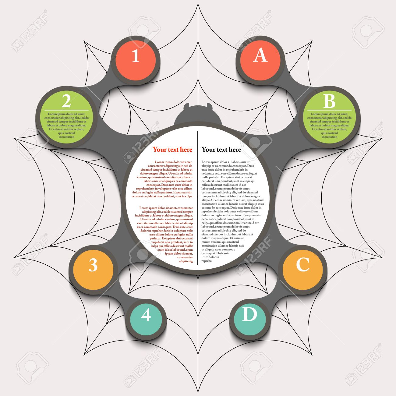 Spiderweb infographic timeline phased plan eps 10 royalty free spiderweb infographic timeline phased plan eps 10 stock vector 32915487 ccuart Choice Image