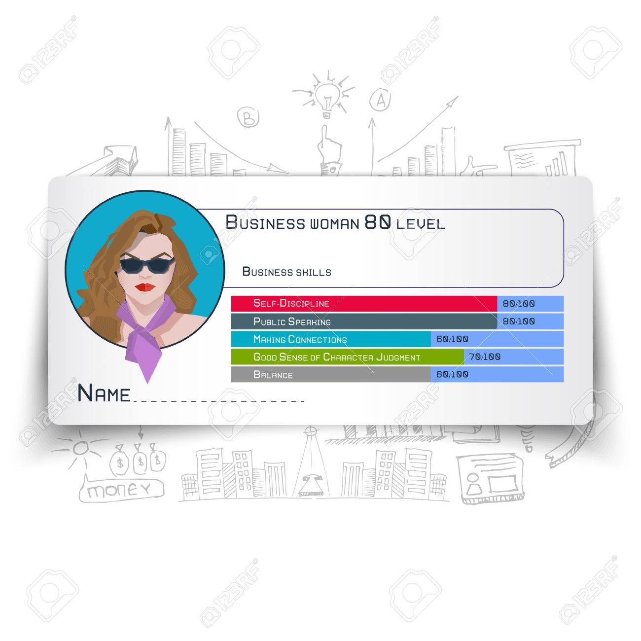 Crecimiento Infografía De Habilidades De Negocios De Diseño De ...