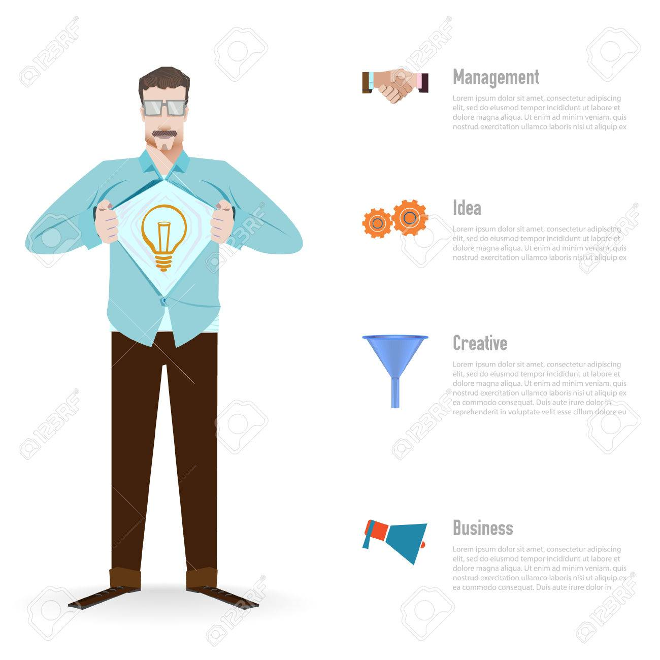 Business Concept Superhero Pose, On A White Background Business ...