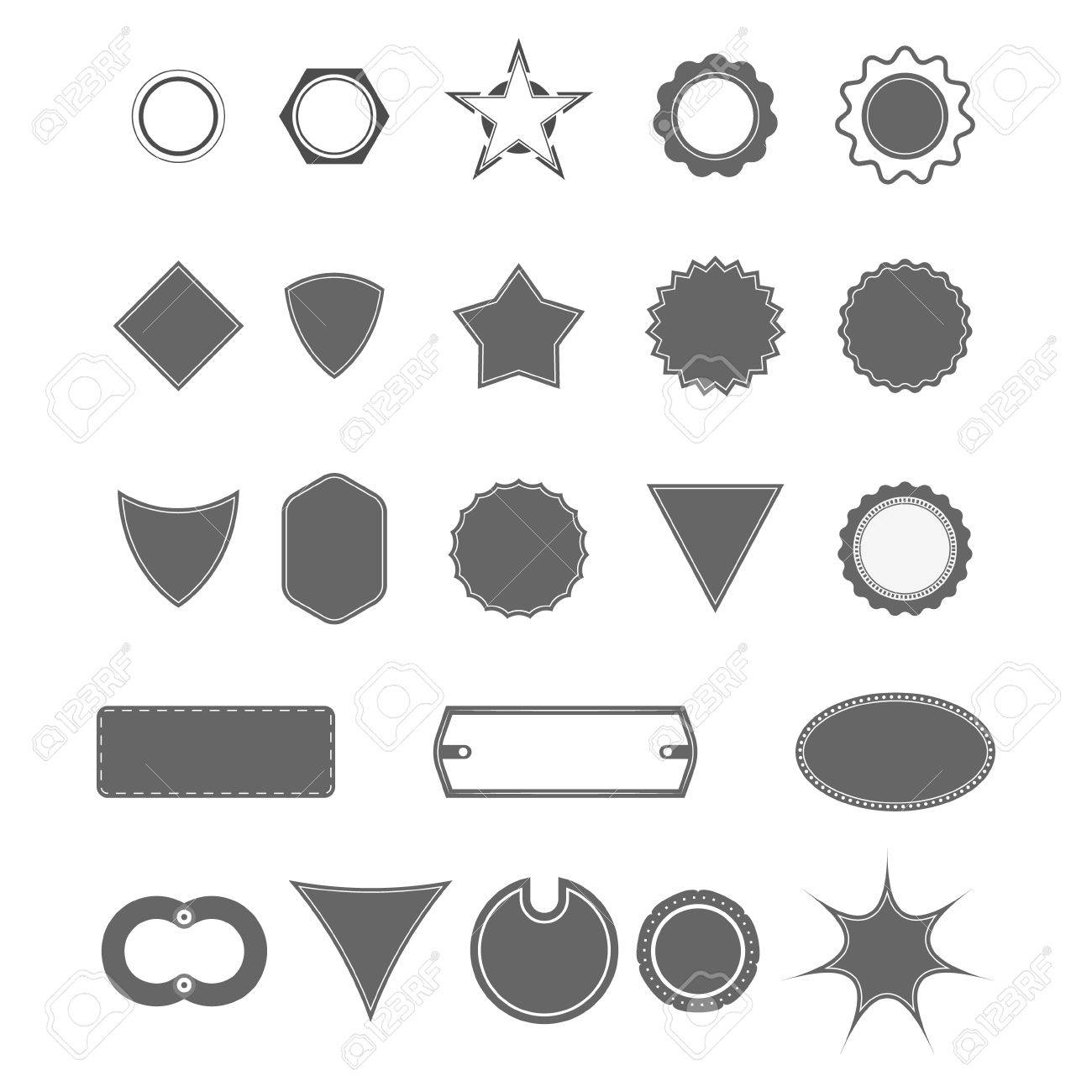 vector badge shapes, collection of design elements for creating