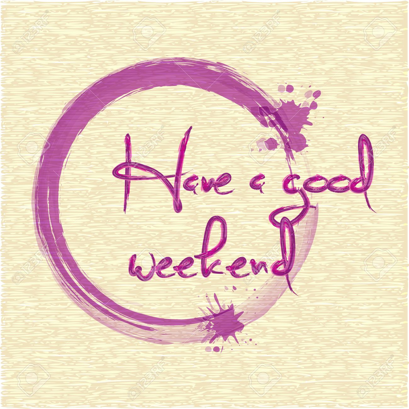 Have A Good Weekend Lettering Brush Watercolor Royalty Free