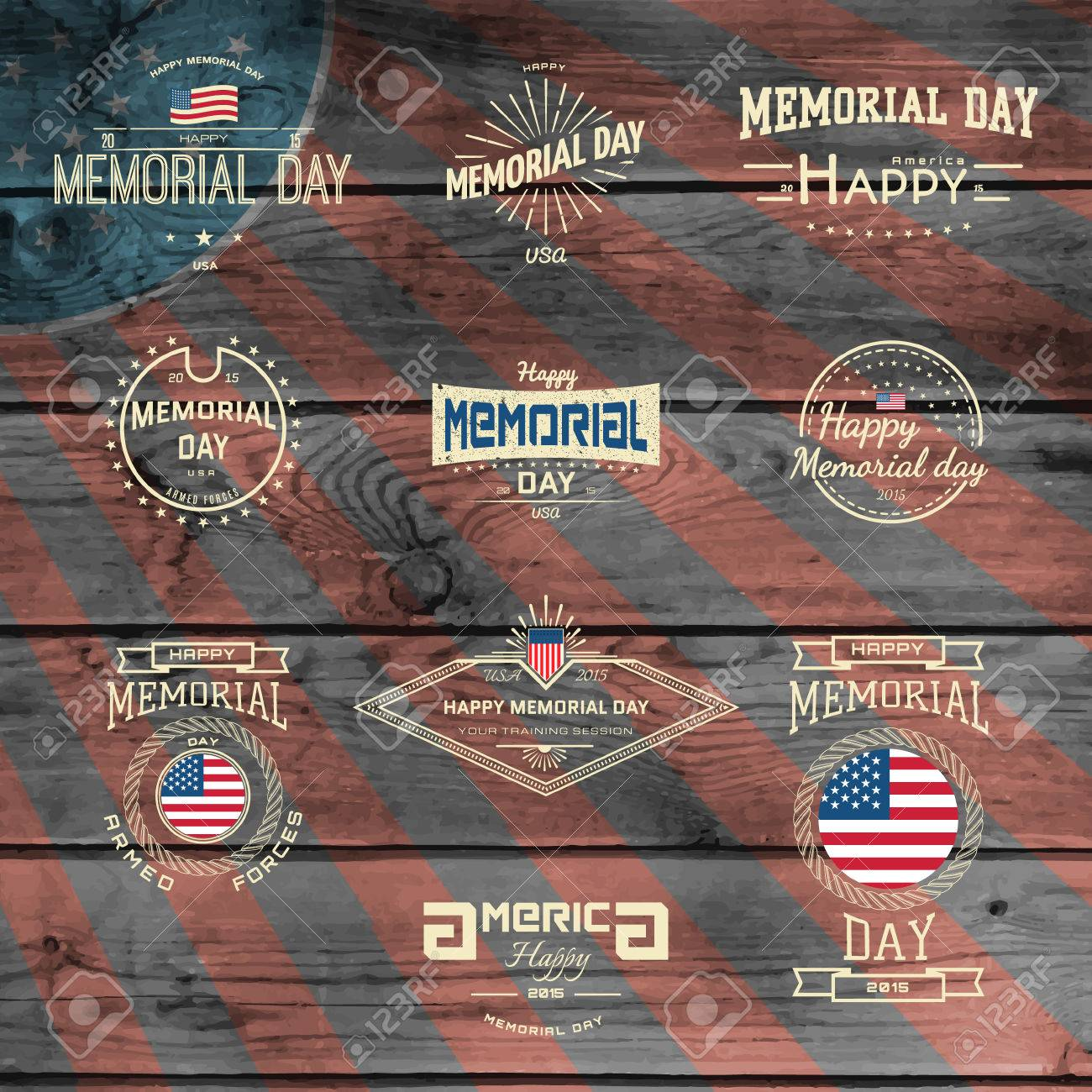 Memorial day labels Vector Image - 1515437 | StockUnlimited