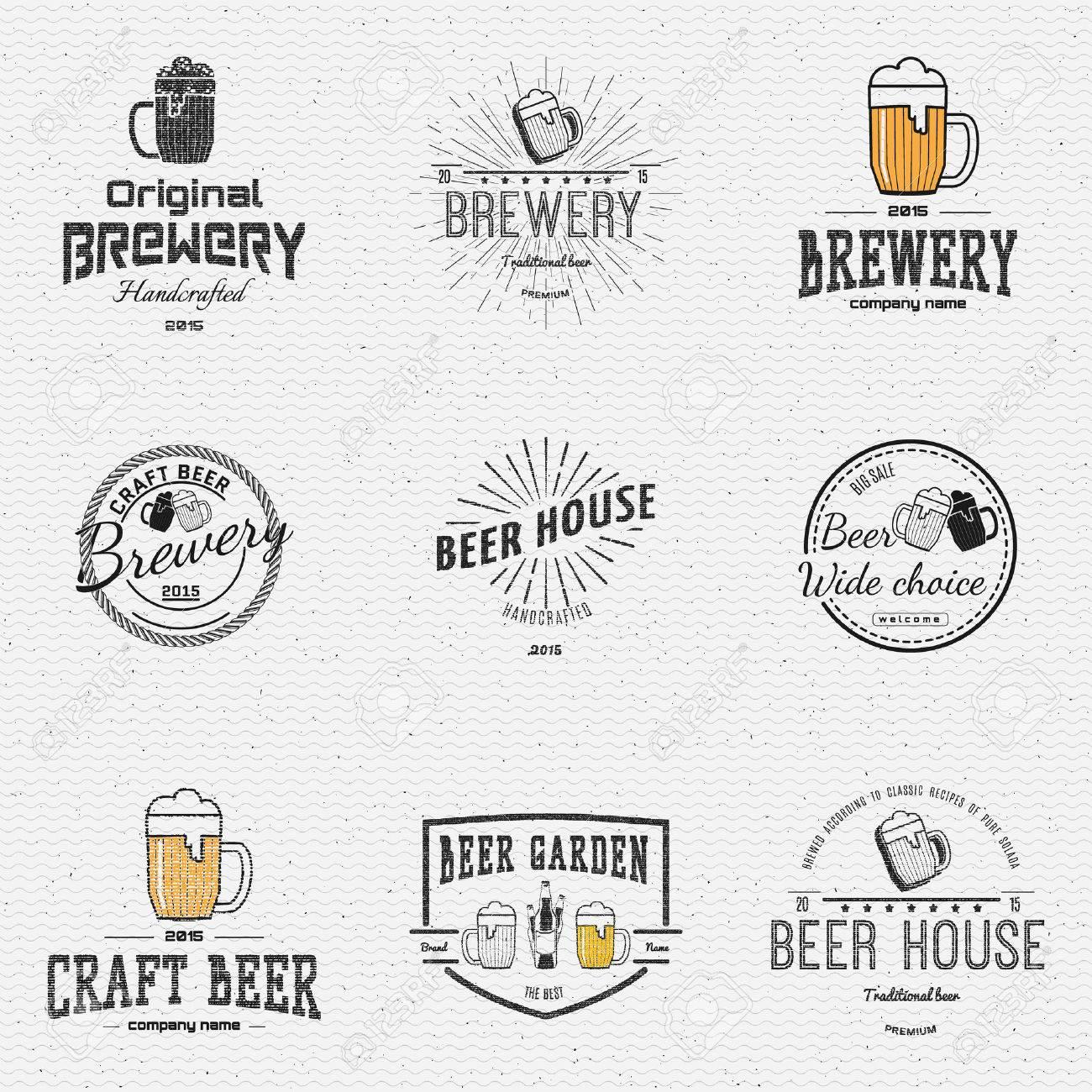 Bier-Etiketten Abzeichen Für Die Weitere Verwendung, Vorlagen Und ...