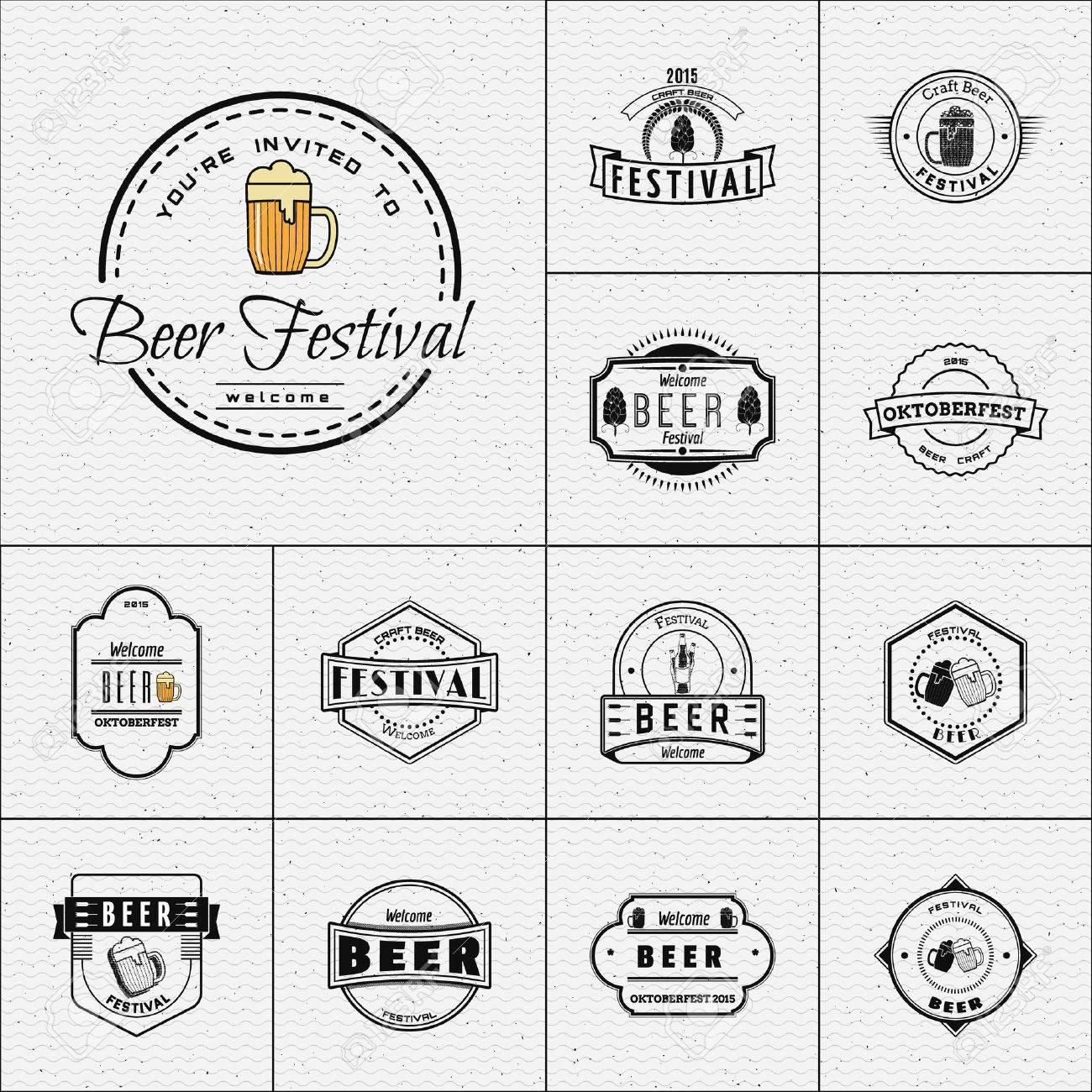 Bierfest Abzeichen-Logos Und Etiketten Für Jeden Einsatz, Logo ...