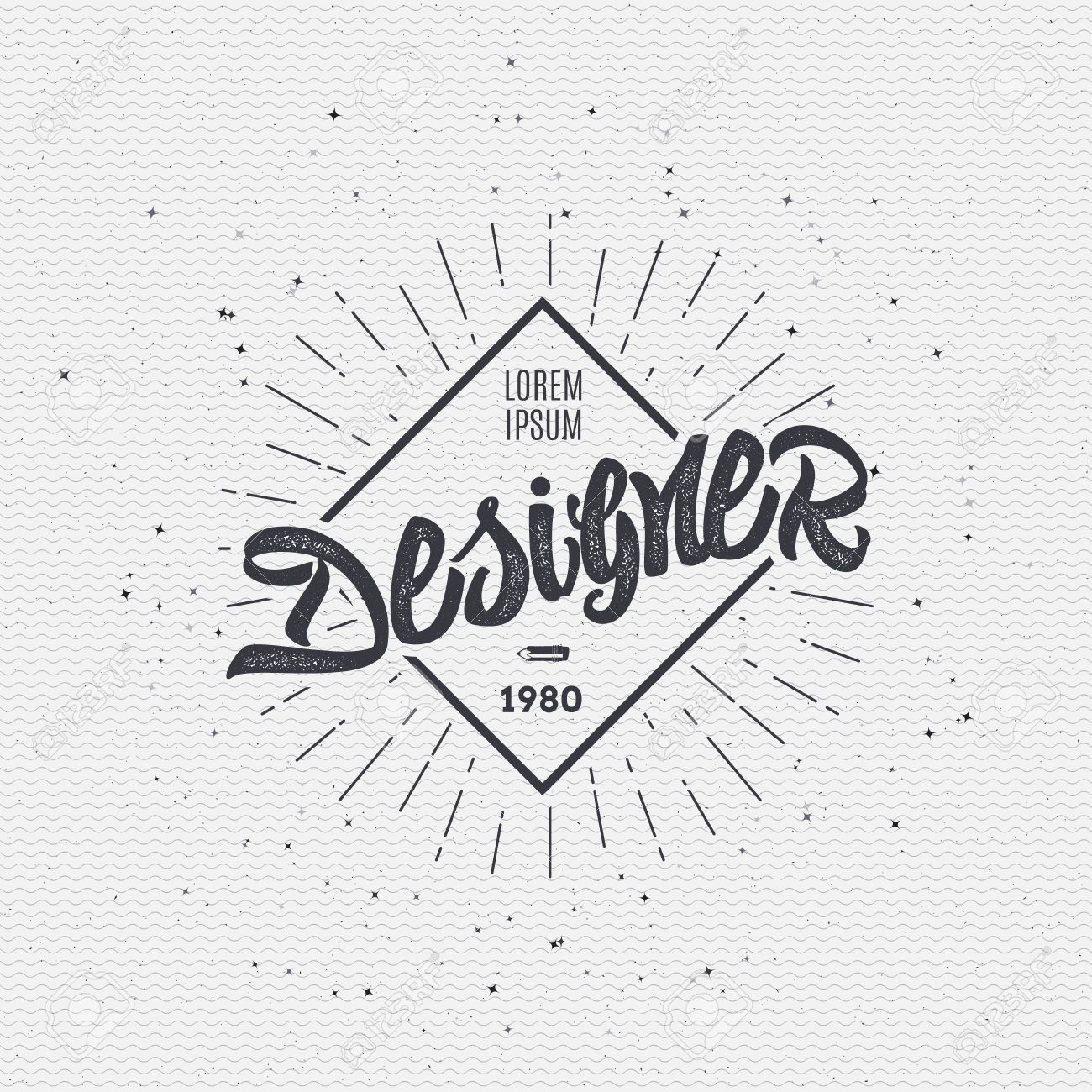 designer calligraphic writing the word lettering using design