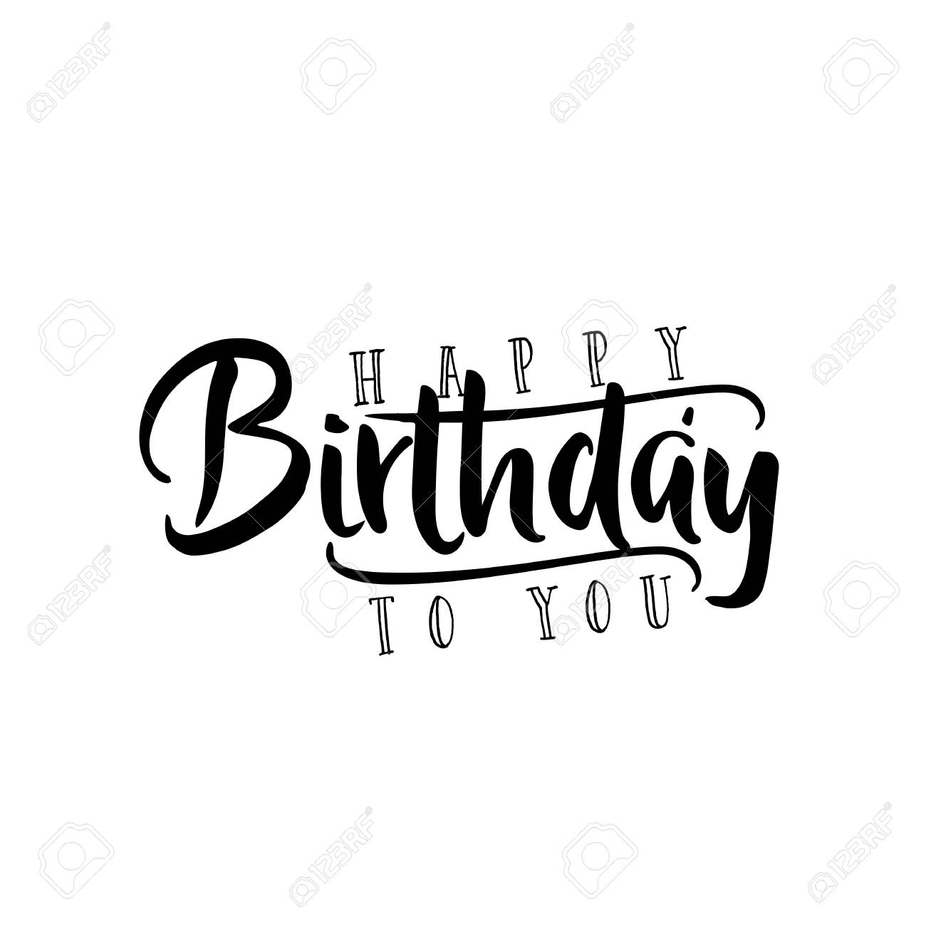 Lettering And Calligraphy Modern Happy Birthday To You Sticker