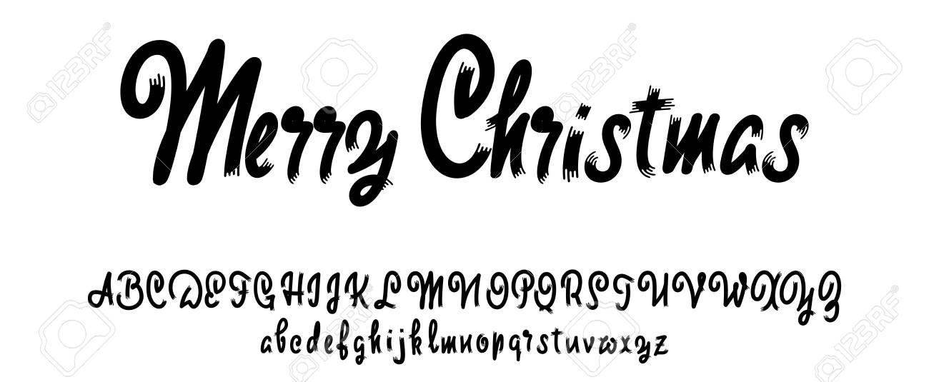 Vector Del Alfabeto. Fuente Caligráfica. Caracteres Personalizados ...