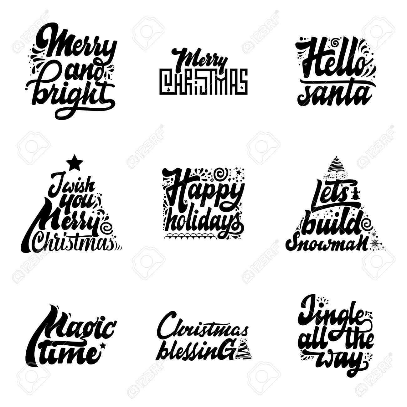 Frases De Navidad Feliz Y Brillante Hola Santa Te Deseo Felices Fiestas Permite Construir Muñeco De Nieve Tiempo De Magia Bendiciones Tintineo