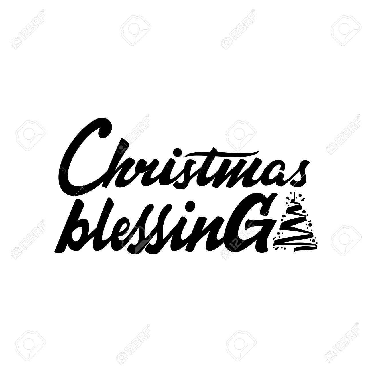 Christmas Blessings Quotes.Christmas Blessings Hand Drawn Calligraphy Lettering Inspirational