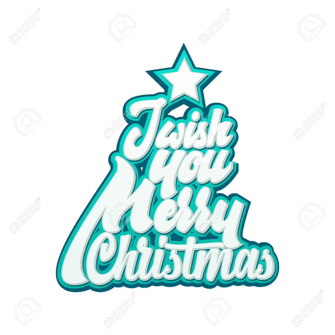 I Wish You Merry Christmas. Lettering And Calligraphy With ...