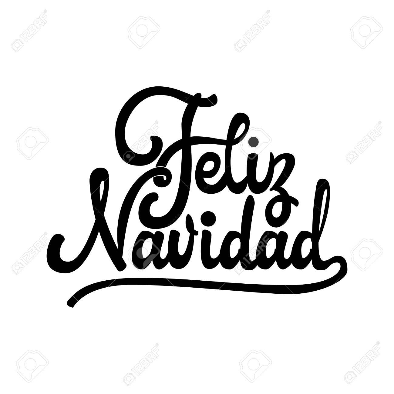 Feliz Navidad Insignia Con Letras Manuscritas Plantilla De