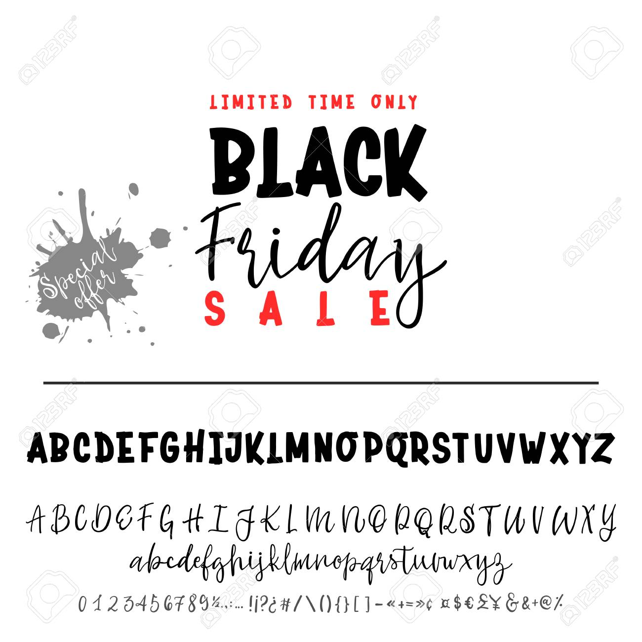 Black Friday Sale Hand Drawn Typeface Set Vector Logo Font Typography Alphabet For Your Designs Logo Typeface Card Wedding Invitation