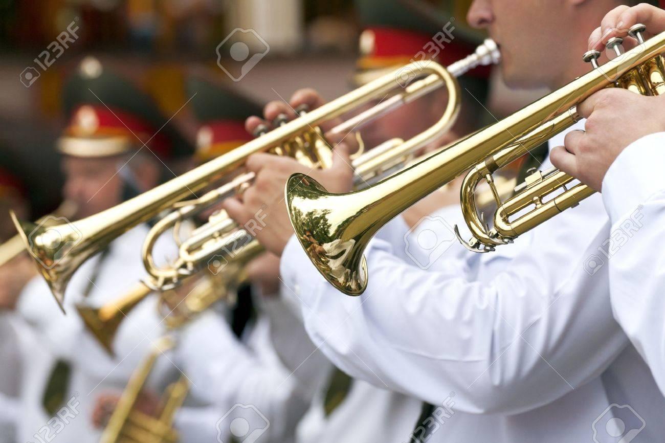 Trumpet players Stock Photo - 12879608