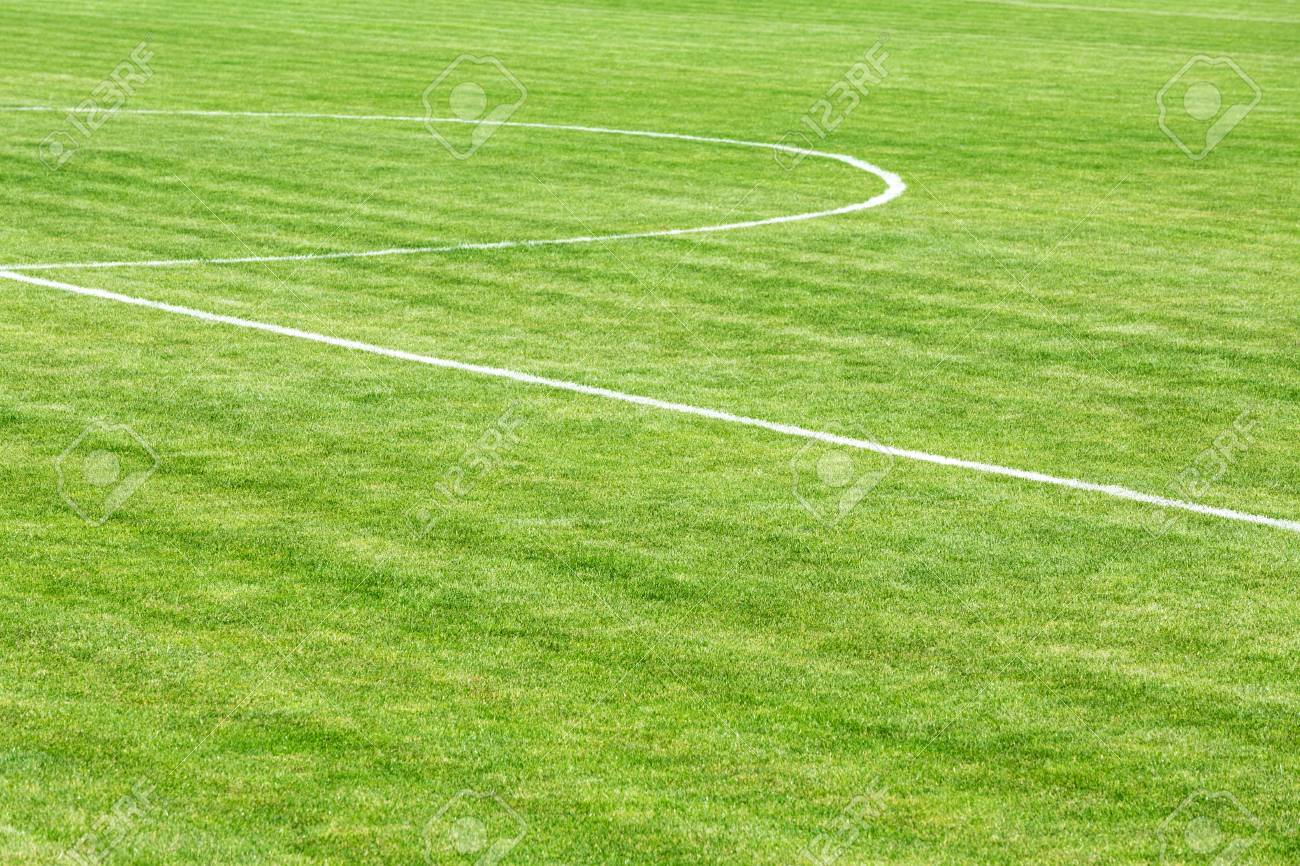 football field with center line stock photo picture and royalty