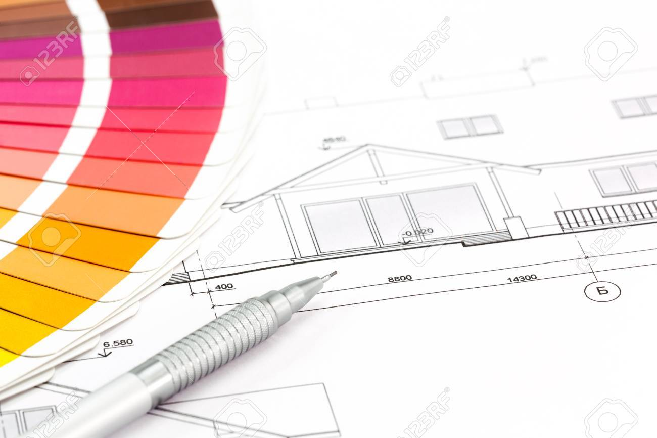 architectural drawings of modern houses. Unique Modern Architectural Drawings Of The Modern House And Color Samples Catalog Stock  Photo  27468278 Intended Drawings Of Modern Houses T