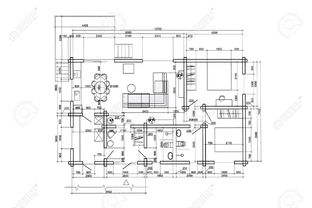Floor Plan Blueprints Engineering And Architecture Drawings Stock Photo Picture And Royalty Free Image Image 41137901