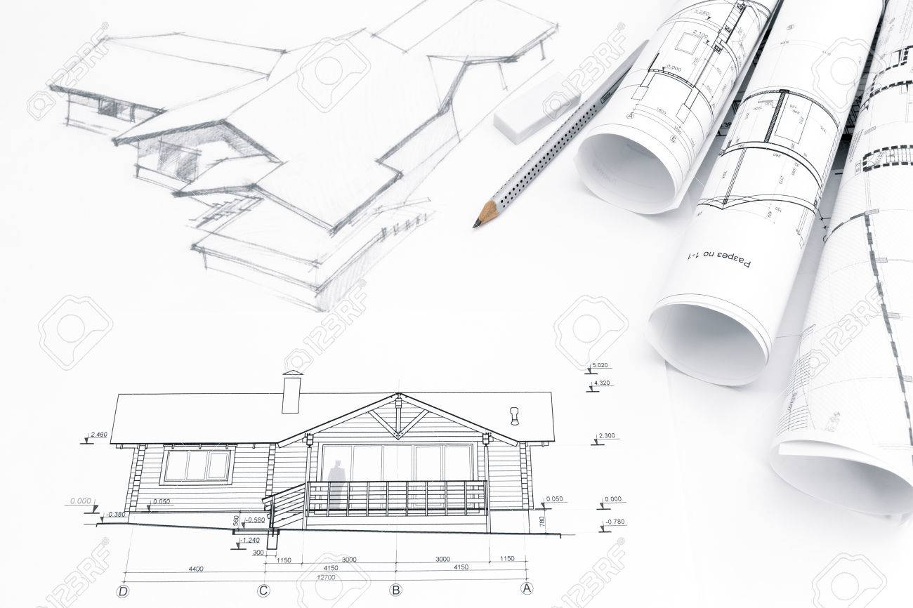 Architectural drawing with engineering and architecture blueprints architectural drawing with engineering and architecture blueprints stock photo 41293390 malvernweather Image collections