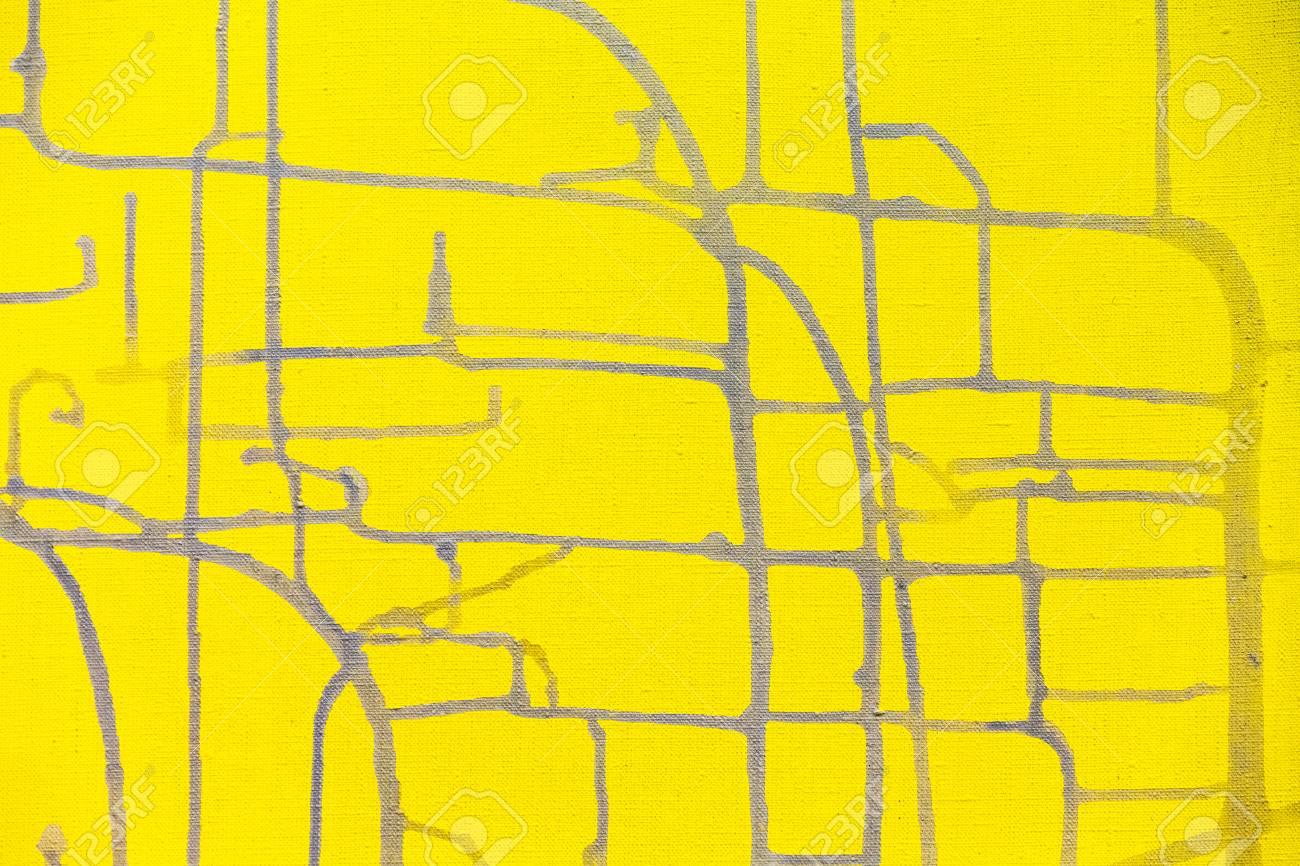 Marco De Cuadrícula Abstracta Con Textura Grunge Sobre Lienzo De ...