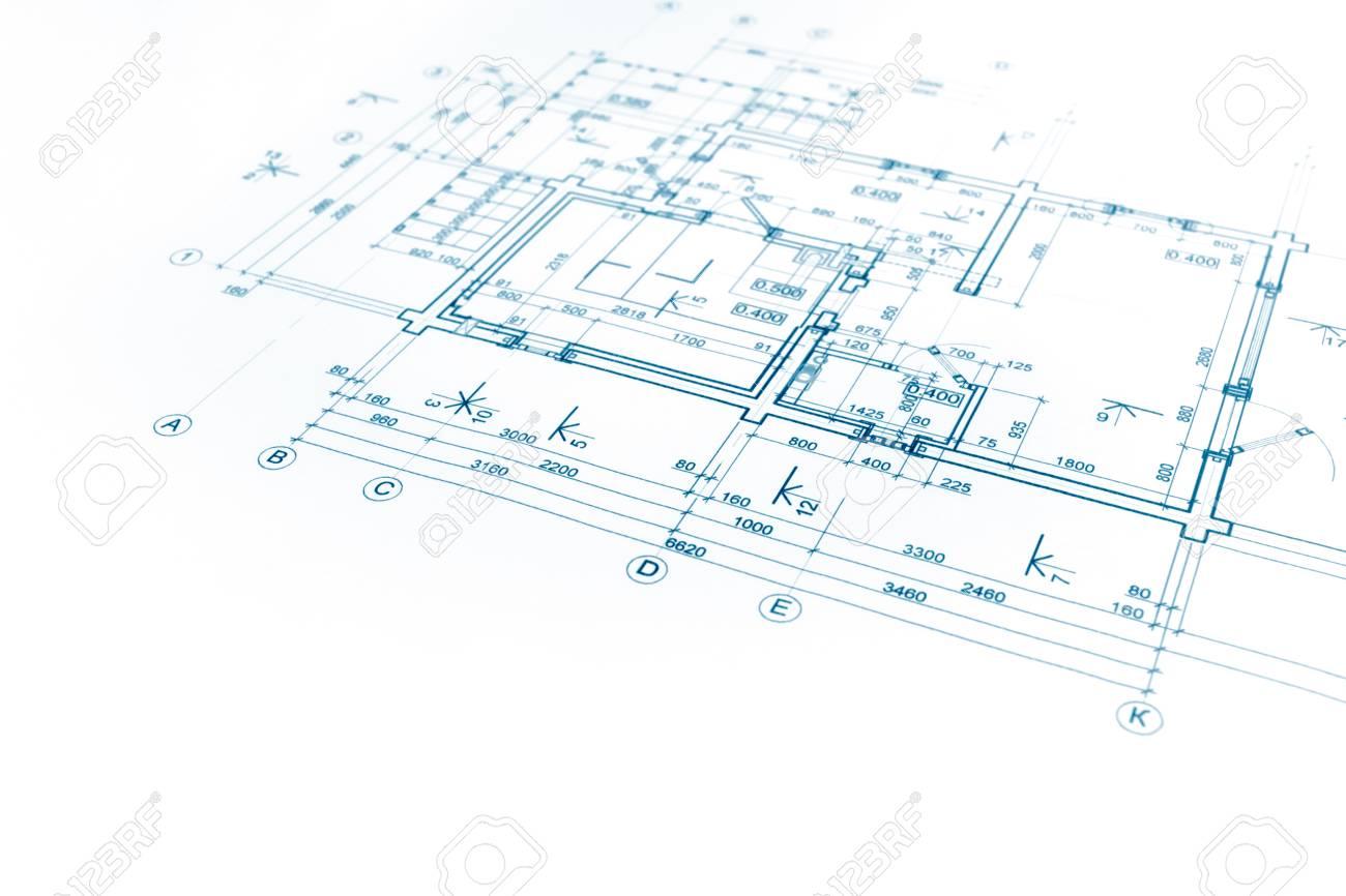Banque dimages plan de maison modèle dessin technique une partie du projet architectural