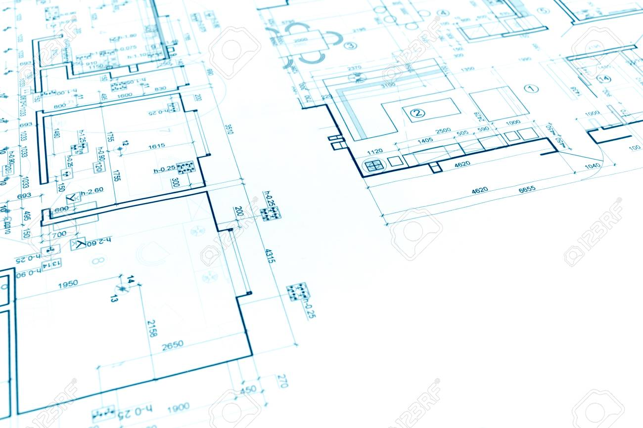 Captivating Floor Plan Project, Technical Drawing, Construction Blueprint Background  Stock Photo   57394816