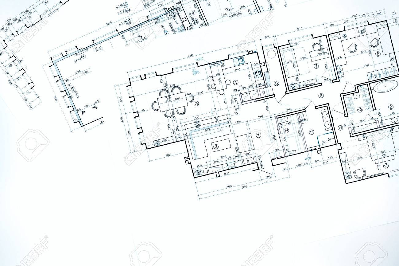 Blueprint Floor Plans Architectural Drawings Construction