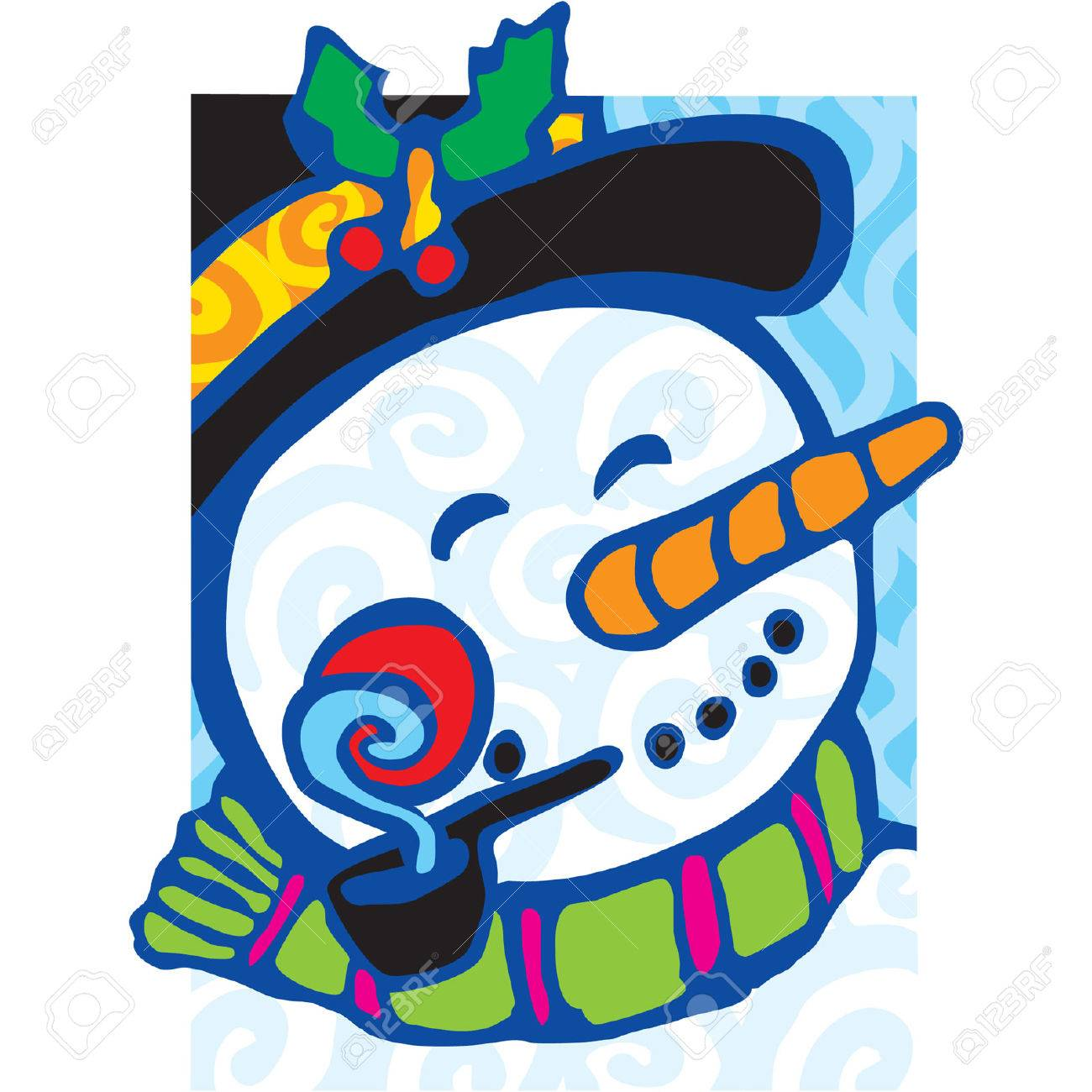 Frosty the Snowman on a cool winters day Stock Vector - 3542021