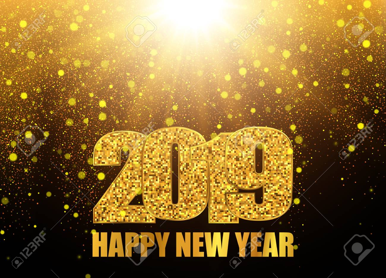 2019 happy new year background abstract illustration stock vector 112131437