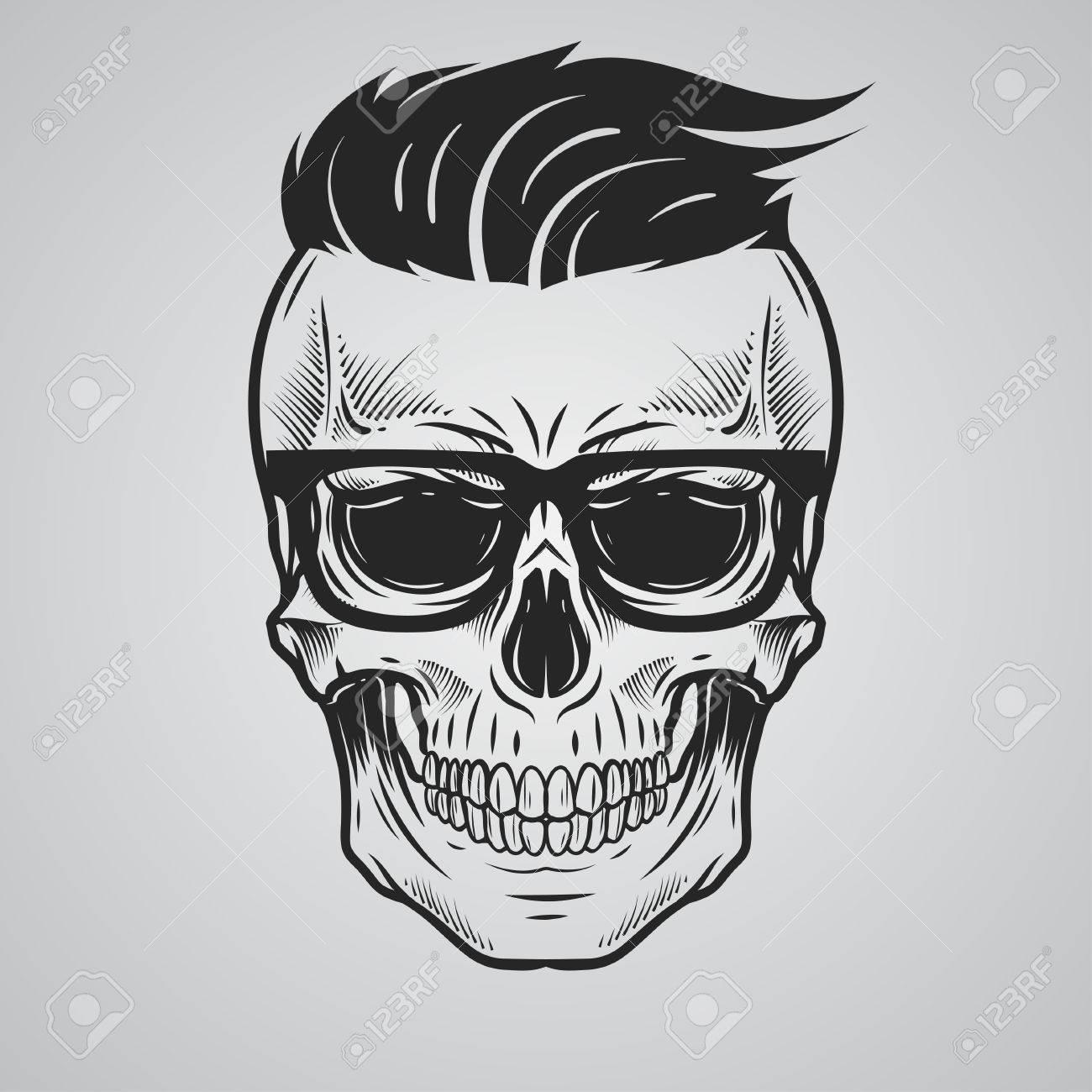 Skull illustration Stock Vector - 59357697