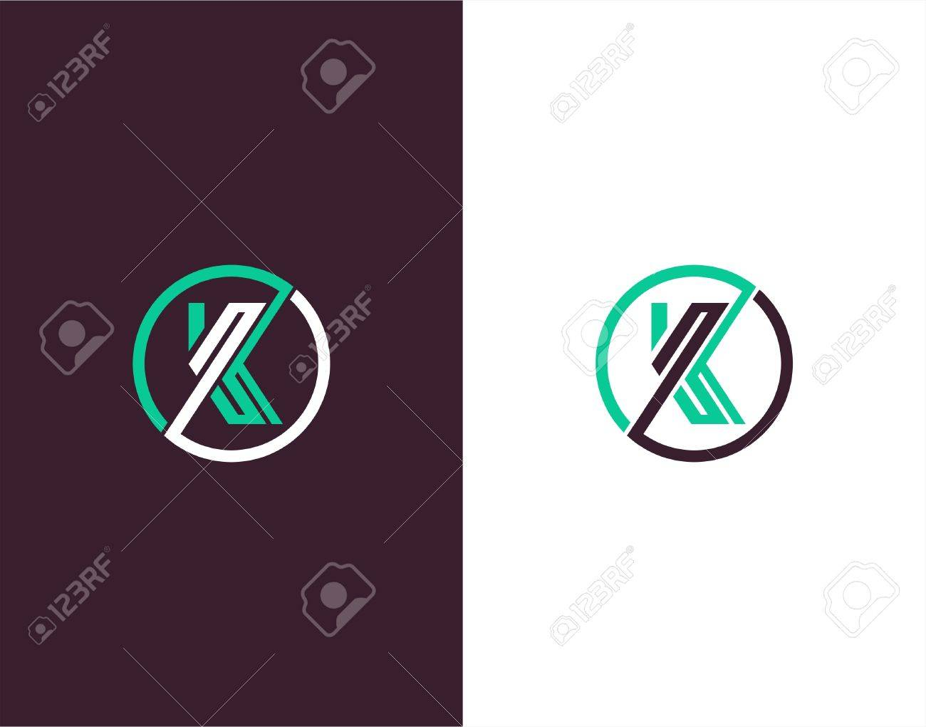 Line Art Design Abstract : Letter k abstract vectore template line art logo royalty free