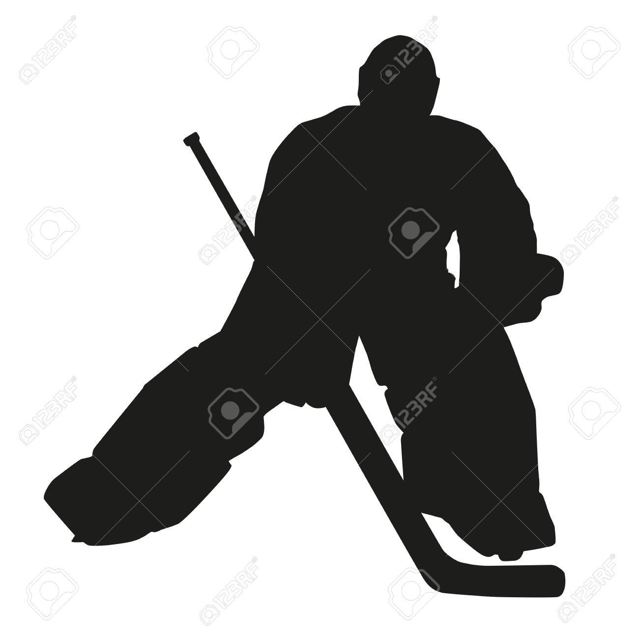 Hockey Goalie Silhouette Royalty Free Cliparts Vectors And Stock