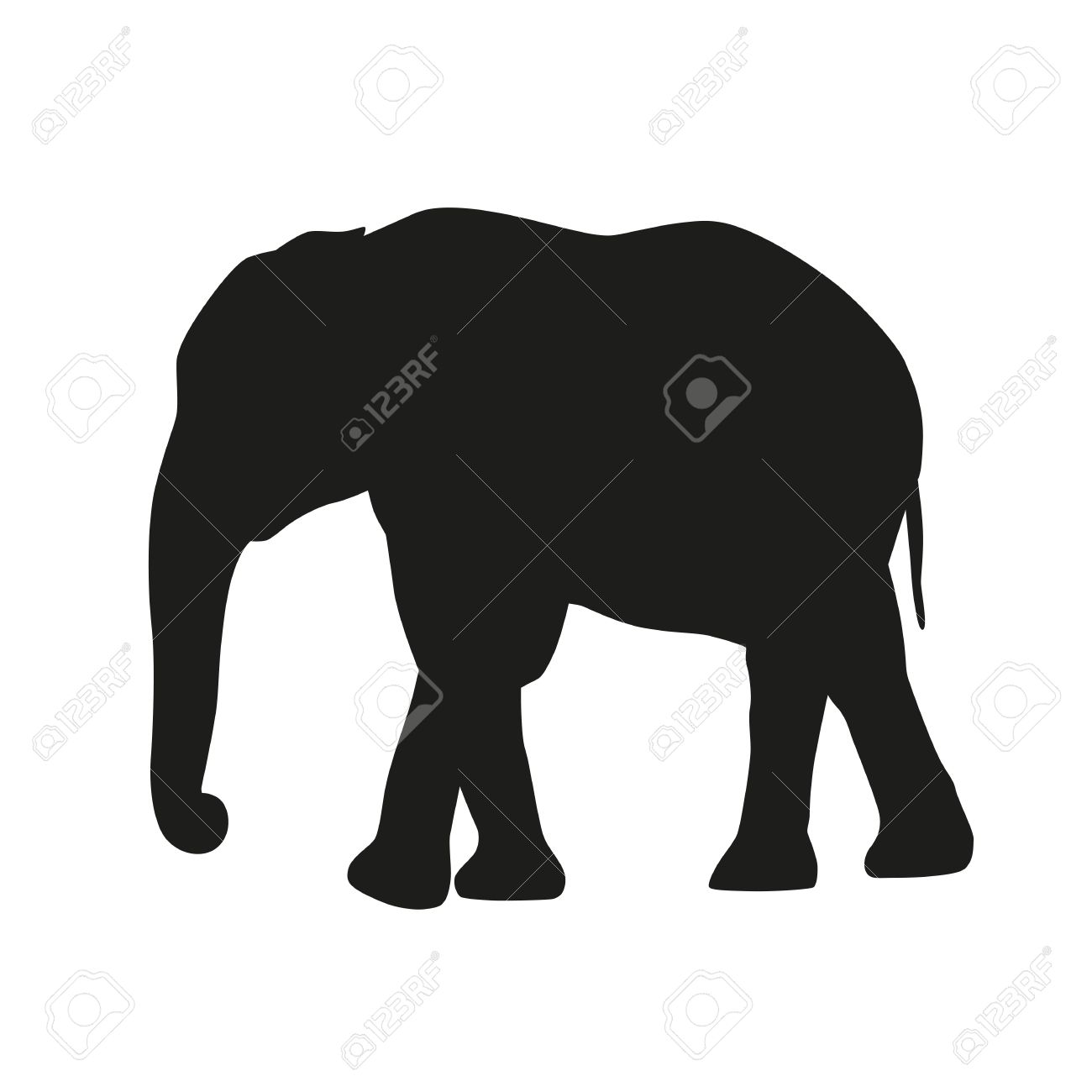 isolated elephant vector silhouette royalty free cliparts vectors rh 123rf com elephant vector images elephant vector file