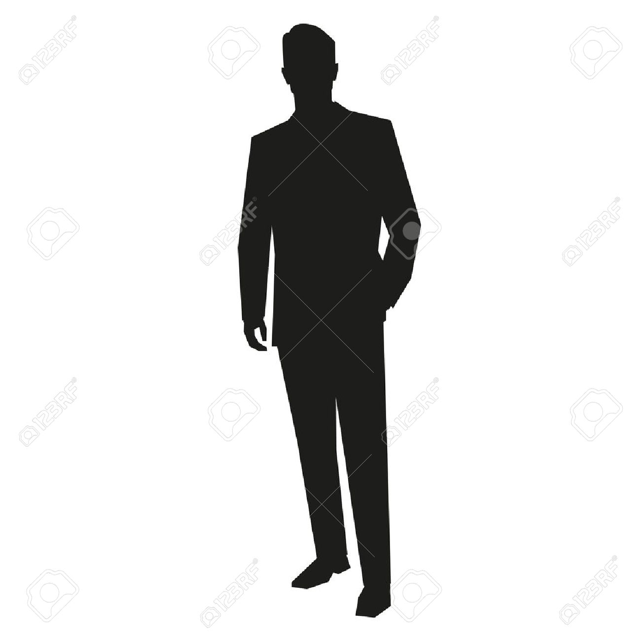 young business man silhouette royalty free cliparts vectors and rh 123rf com man run silhouette vector man silhouette vector free download