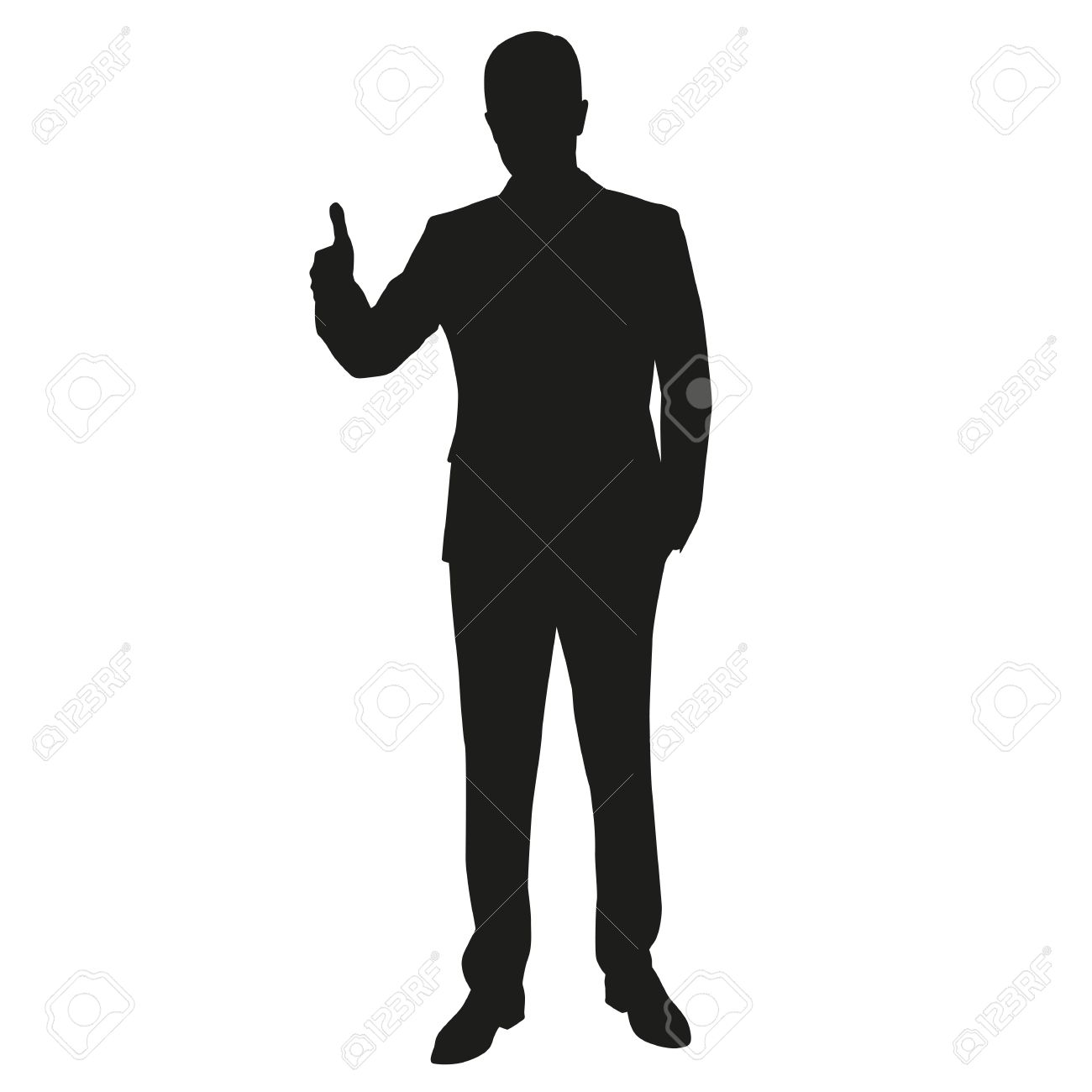 thumbs up man vector silhouette royalty free cliparts vectors and rh 123rf com man vector logo man vector free