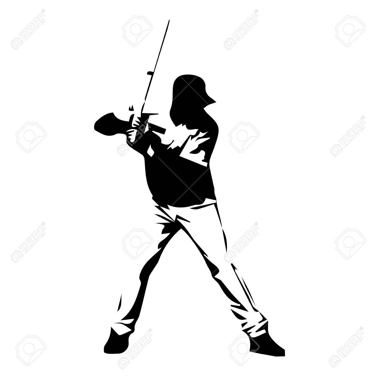 baseball player vector silhouette drawn batter royalty free rh 123rf com Baseball Silhouette Vector Baseball Player Batter Clip Art