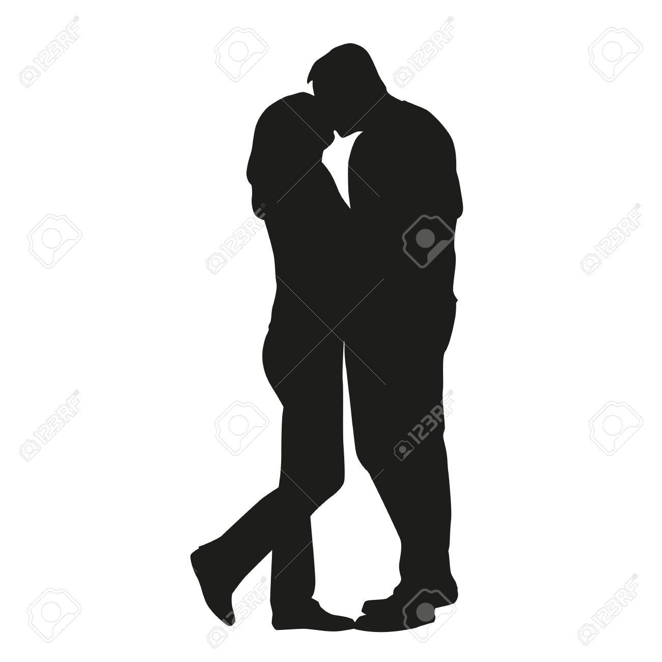 Couple Kissing Silhouette. In Love Royalty Free Cliparts, Vectors ... for Couple Silhouette Umbrella Kissing  lp4eri