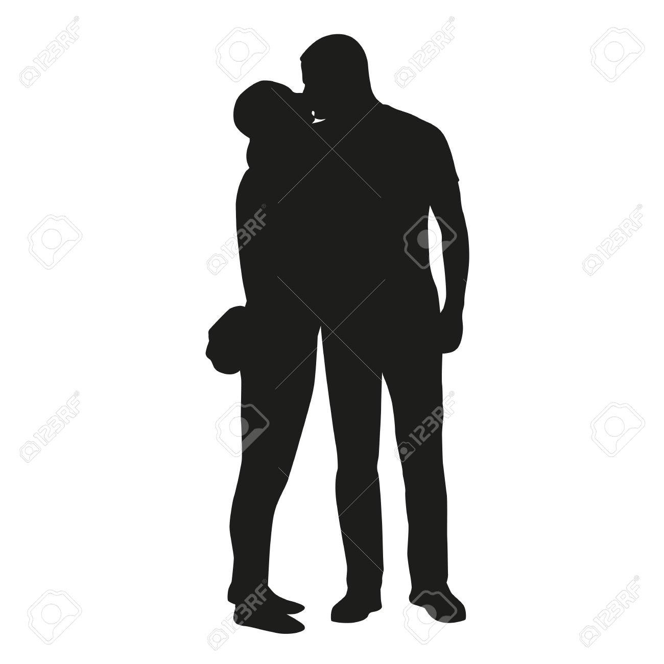 Kissing Couple Silhouette Royalty Free Cliparts, Vectors, And ... for Couple Silhouette Umbrella Kissing  70ref