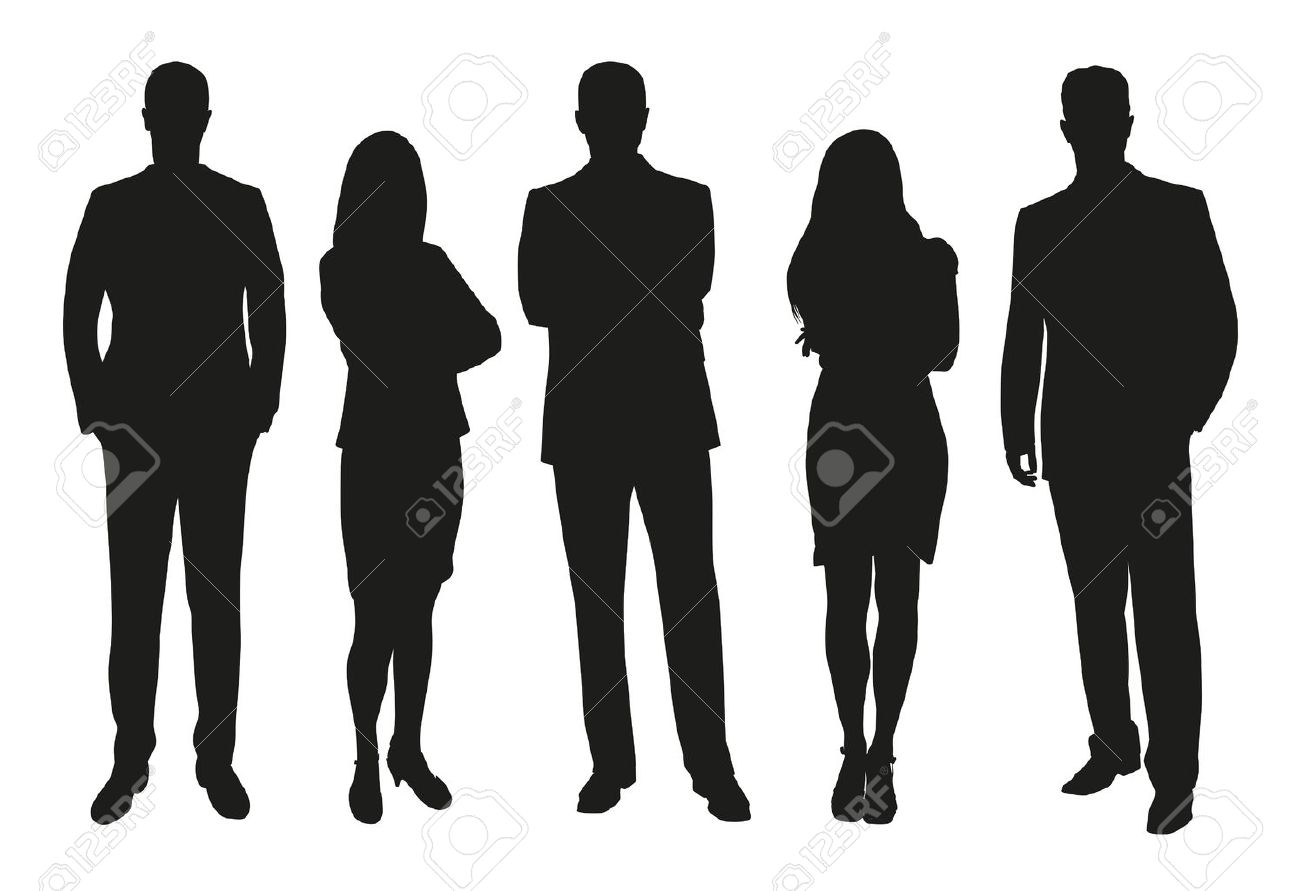 Business people, set of vector silhouettes - 52219628